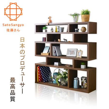 【Sato】MOOK光陰故事隔間收納櫃‧幅120cm(淺棕)