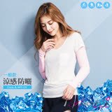 【BeautyFocus】台灣製抗UV涼感防曬運動袖套/一般款-24109粉紅