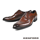 【KENFORD】質感雕花紳士鞋 咖啡(KN12-BR)