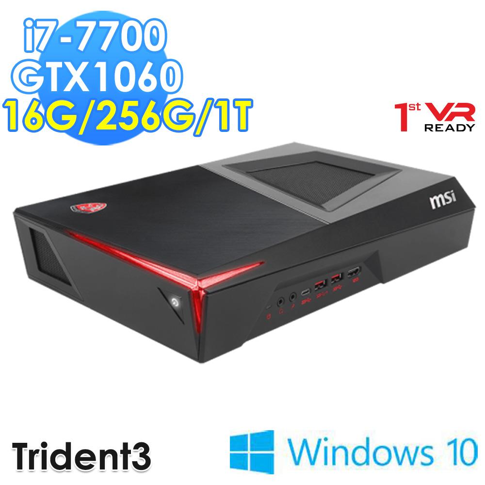 msi微星 Trident 3 VR7RC-040TW i7-7700 GTX1060 WIN10 電競桌機