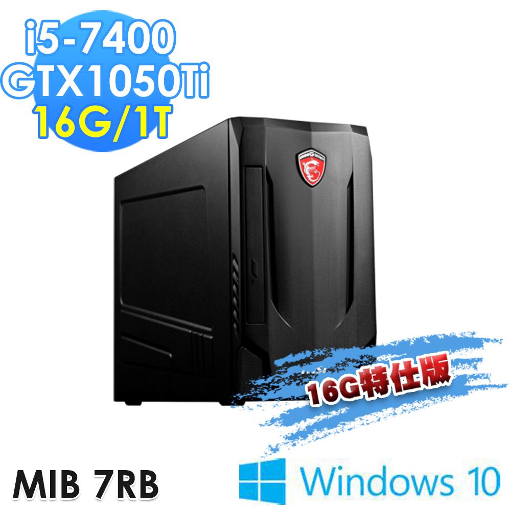 msi微星 Nightblade MIB 7RB-250TW i5-7400 GTX1050Ti Win10(16G特仕版)