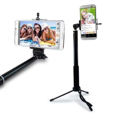 直播好幫手!手機/相機兩用 4段伸縮360度旋轉自拍三腳架(TFT01)