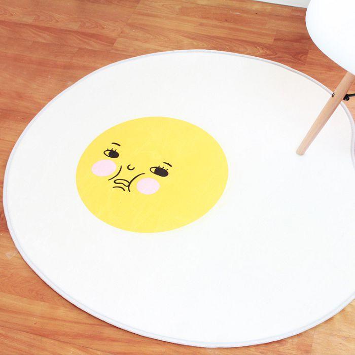 韓國療癒系慵懶雞蛋哥地墊 蛋黃哥 絨毛腳踏墊 浴室地墊 防滑墊 踏墊 門墊
