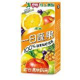 M-波蜜100%蘋果柳橙蔬果汁160ml*6