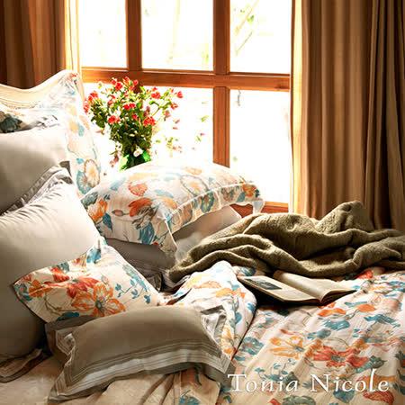 Tonia Nicole東妮寢飾 愛琳諾100%天絲超水感印花兩用被床包組(雙人)