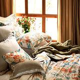 Tonia Nicole東妮寢飾 愛琳諾100%天絲超水感印花兩用被床包組(加大)