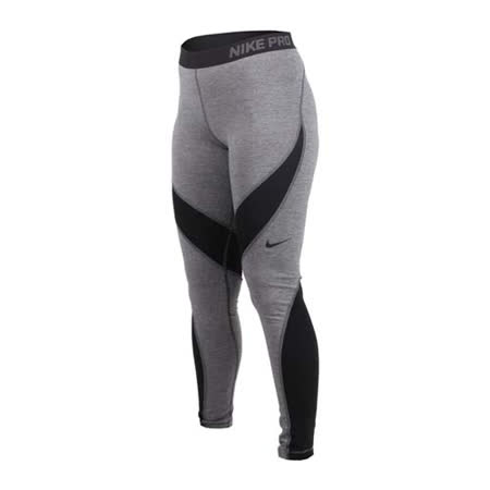 (女) NIKE 彈力長褲-訓練 緊身褲 路跑 慢跑 黑灰