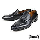 【Marelli】經典手工樂福紳士鞋 黑色(9-BL)