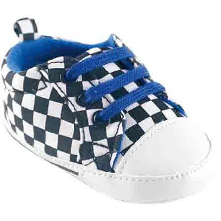【HELLA 媽咪寶貝】美國 luvable friends  嬰幼兒防滑學步鞋_黑白格紋 (11310)