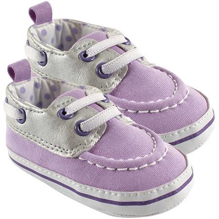 【HELLA 媽咪寶貝】美國 luvable friends  嬰幼兒防滑學步鞋_紫色素面鞋 (11642)