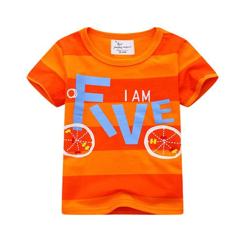 上衣 男童 FIVE 歐美經典兒童純棉短袖T恤(T077)