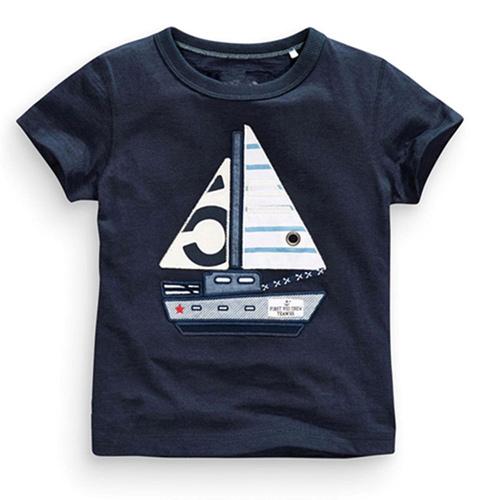 上衣 男童 帆船 歐美經典兒童純棉短袖T恤(T079)