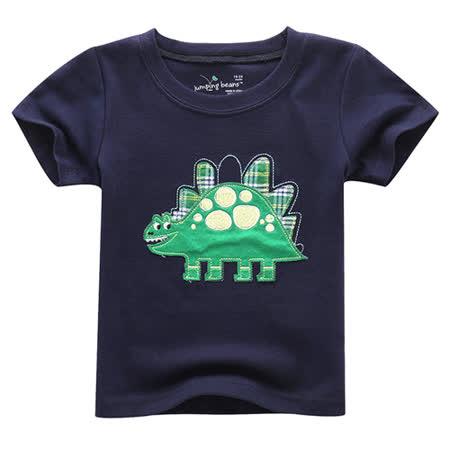 上衣 男童 诙谐剑龙 欧美经典儿童纯棉短袖T恤(T082)