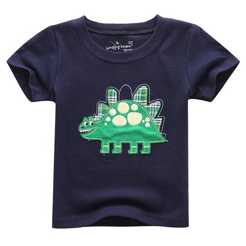 上衣 男童 詼諧劍龍 歐美經典兒童純棉短袖T恤(T082)