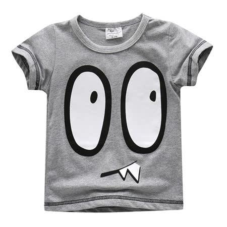 上衣 男童 大怪兽 欧美经典儿童纯棉短袖T恤(T086)