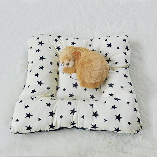 寵物愛家-秋冬四角保暖舒適厚墊 雙面使用