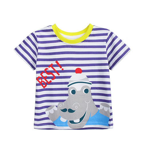 上衣 男童 BEST河馬 歐美經典兒童純棉短袖T恤(T095)