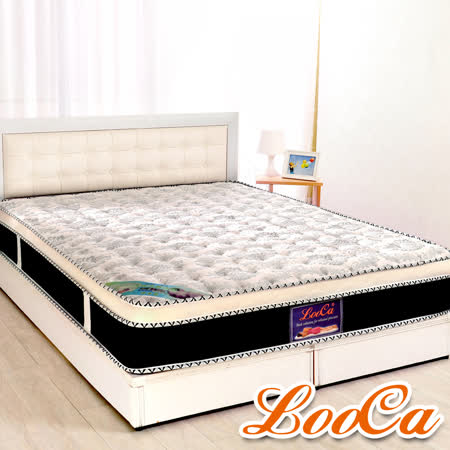 LooCa 護背4cm乳膠硬式獨立筒床墊(加大6尺)