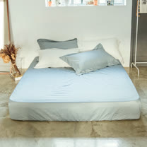 LAMINA 純色-淺灰藍 精梳棉床包(單人)