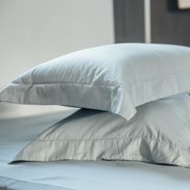 LAMINA 純色-淺灰藍 精梳棉枕頭套-2入