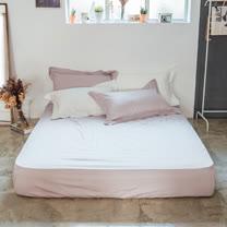 LAMINA 純色-灰芋紫 精梳棉床包(加大)