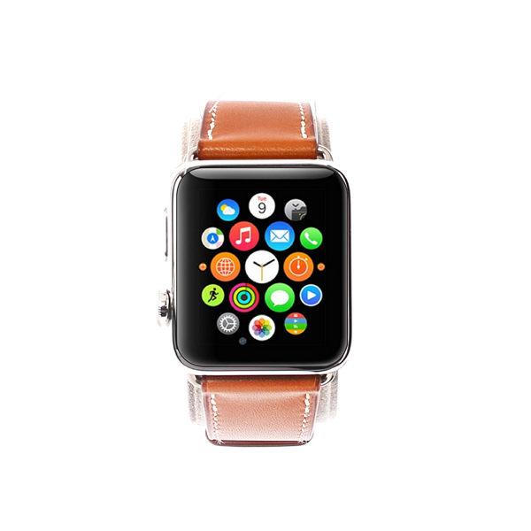 【HERMES】APPLE WATCH x HERMES系列42mm手錶(附二條錶帶 駝色/豹圖騰)