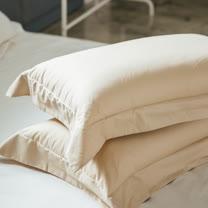 LAMINA 純色-卡布奇諾 精梳棉枕頭套-2入