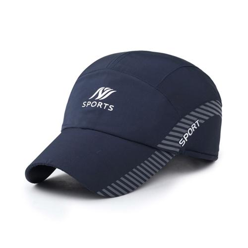 【幸福揚邑】保暖防風吸濕排汗透氣速乾護耳棒球帽鴨舌帽-藍色