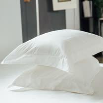 LAMINA 純色-石英白 精梳棉枕頭套-2入