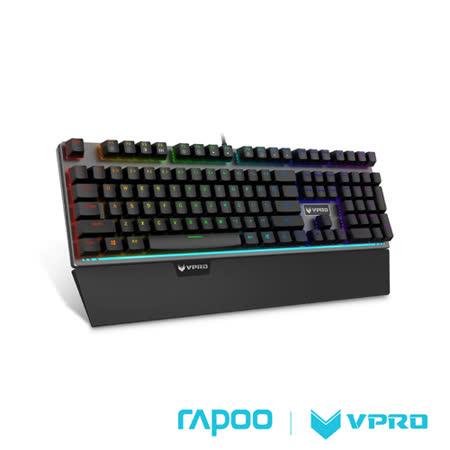 【夜殺】雷柏 RAPOO VPRO V720(青軸)全彩RGB背光機械遊戲鍵盤-黑