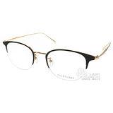 JILL STUART光學眼鏡 夢幻經典半框款(黑-金) #JS03022 C01