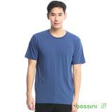 bossini男裝-素色純棉圓領T恤10靛藍