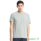 bossini男裝-素色純棉圓領T恤10淺灰