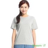 bossini女裝-素色寬版圓領T恤13米灰