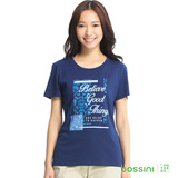 bossini女裝-印花短袖T恤26海軍藍