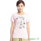 bossini女裝-印花短袖T恤28嫩粉