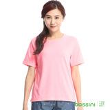 bossini女裝-素色寬版圓領T恤15玫瑰色(品特)