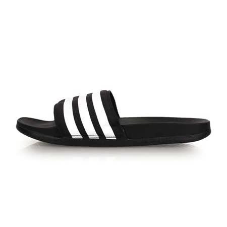 (男) ADIDAS 運動拖鞋-游泳 戲水 海邊 海灘 沙灘 黑白