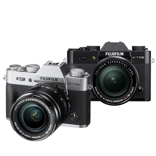 FUJIFILM X-T20 18-55mm 變焦鏡組(公司貨).-送64G記憶卡+專用電池+大吹球清潔組+保護貼+相機包