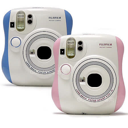 FUJIFILM Instax mini 25 拍立得相機(公司貨)粉紅粉藍★加送卡通底片(款式隨機)+束口袋★