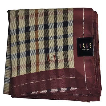 DAKS經典格紋帕領巾-紅