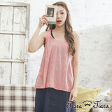 【Tiara Tiara】特賣專屬  西洋古星座儀圖樣寬版背心(粉紅)