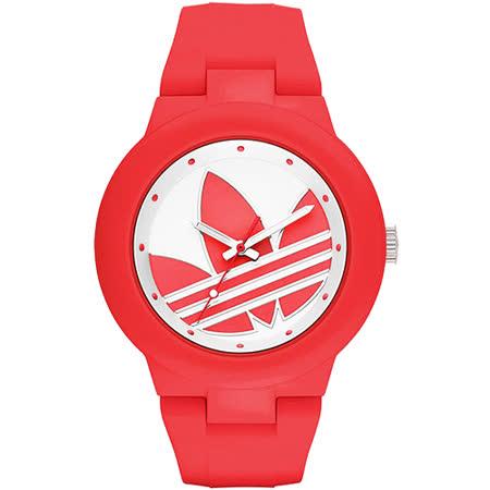 adidas Aberdeen 奧運系列三葉草時尚腕錶-紅/42mm ADH3115