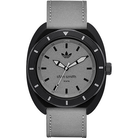 adidas Stan Smith 復刻經典運動腕錶-灰/42mm ADH3080