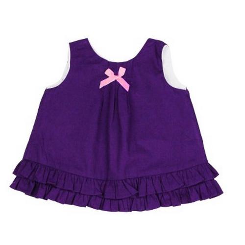 ~HELLA 媽咪寶貝~美國 RuffleButts 小女童甜美荷葉邊搖擺衣洋裝_葡萄紫