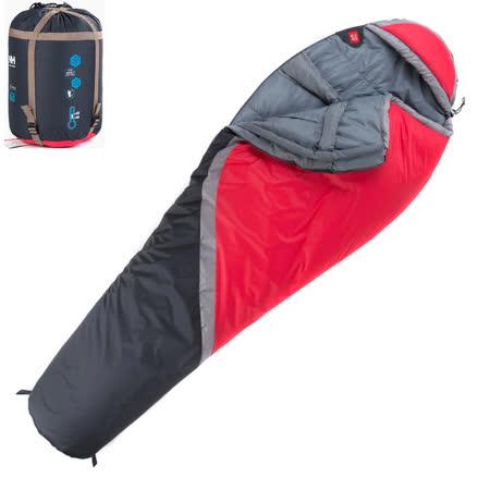 PUSH! 登山戶外用品 300克防風防潑水四季空調被可拼接木乃伊睡袋P76-2紅色
