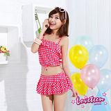 【LOVETEEN夏之戀】俏麗格子短版三件式泳衣 A15711