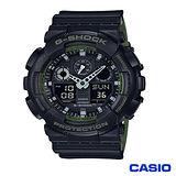 CASIO 卡西歐 G-SHOCK酷炫個性運動雙顯腕錶 GA-100L-1A