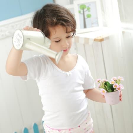 【Anny pepe】精梳美國棉女童短袖內衣-白