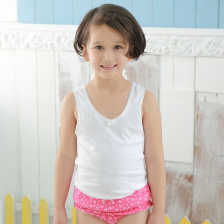 【Anny pepe】精梳美國棉女童背心內衣-白